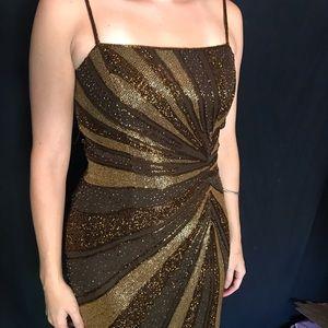 Floor length Lillie Rubin beaded evening gown